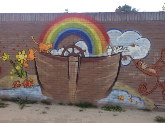 Muurschildering basisschool 'de Ark'